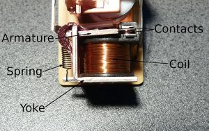 A simple electro-mechanical relay