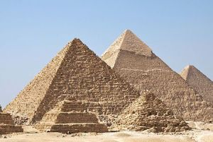 Pyramids At Gizah (Source Wikipedia)